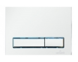 Клавиша для инсталляции Cersanit Blic BU-BK/Whg/Gl (белая, стеклянная, для инсталляций Cersanit Leon New и Cersanit Linc Pro)