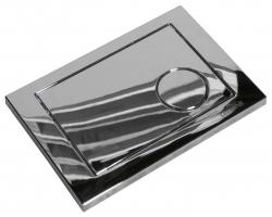 Клавиша для инсталляции Cersanit Geometri BU-GMT/Cg (хром глянец, для инсталляции Cersanit Leon New и Cersanit Linc Pro)