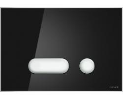 Клавиша для инсталляции Cersanit Intera BU-INT/Blg/Gl (чёрная, стеклянная, для инсталляции Cersanit Leon New и Cersanit Linc Pro)