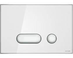Клавиша для инсталляции Cersanit Intera BU-INT/Whg/Gl (белая, стеклянная, для инсталляции Cersanit Leon New и Cersanit Linc Pro)
