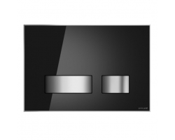 Клавиша для инсталляции Cersanit Movi BU-MOV/Blg/Gl (чёрная, стеклянная, для инсталляции Cersanit Leon New и Cersanit Linc Pro)