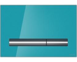 Клавиша для инсталляции Cersanit Pilot BU-PIL/Azg/Gl (лазурная, стеклянная, для инсталляции Cersanit Leon New и Cersanit Linc Pro и Cersanit Linc Pro)