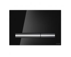 Клавиша для инсталляции Cersanit Pilot BU-PIL/Blg/Gl (чёрная, стеклянная, для инсталляции Cersanit Leon New и Cersanit Linc Pro)