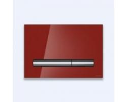 Клавиша для инсталляции Cersanit Pilot BU-PIL/Rdg/Gl (красная, стеклянная, для инсталляции Cersanit Leon New и Cersanit Linc Pro)
