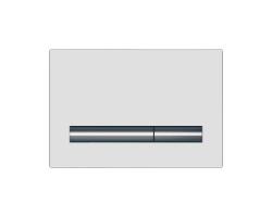 Клавиша для инсталляции Cersanit Pilot BU-PIL/Whg/Gl (белая, стеклянная, для инсталляции Cersanit Leon New и Cersanit Linc Pro)