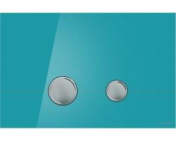 Клавиша для инсталляции Cersanit Stero BU-STE/Azg/Gl (лазурная. стеклянная, для инсталляции Cersanit Leon New и Cersanit Linc Pro)
