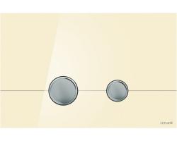 Клавиша для инсталляции Cersanit Stero BU-STE/Beg/Gl (бежевая, стеклянная, для инсталляции Cersanit Leon New и Cersanit Linc Pro)