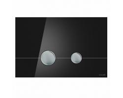 Клавиша для инсталляции Cersanit Stero BU-STE/Blg/Gl (чёрная, стеклянная, для инсталляции Cersanit Leon New и Cersanit Linc Pro)