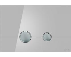 Клавиша для инсталляции Cersanit Stero BU-STE/Grg/Gl (серая, стеклянная, для инсталляции Cersanit Leon New и Cersanit Linc Pro)