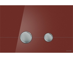 Клавиша для инсталляции Cersanit Stero BU-STE/Rdg/Gl (красная, стеклянная, для инсталляции Cersanit Leon New и Cersanit Linc Pro)