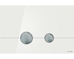 Клавиша для инсталляции Cersanit Stero BU-STE/Whg/Gl (белая, стеклянная, для инсталляции Cersanit Leon New и Cersanit Linc Pro)