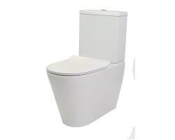 Унитаз напольный Creo Ceramique Creo CR1002R+CR1003+CR1001 (белый, безободковый, микролифт)