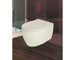 Унитаз подвесной Creo Ceramique Decart WD1100+WD1101 (белый, микролифт)