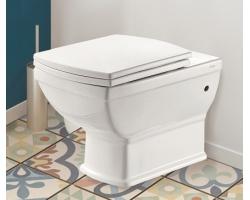 Унитаз подвесной Creo Ceramique Orleans OR1100+OR1001 (белый, микролифт)