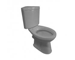 Унитаз напольный Creo Ceramique Project PR1002+PR1003С (белый, угловой, микролифт)