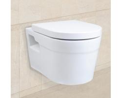Унитаз подвесной Creo Ceramique Project PR1100+PR1101 (белый, безободковый, микролифт)