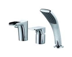 Смеситель для ванны на 3 отверстия D&K Berlin Freie DA1434201 (хром глянец, врезной на борт ванны)