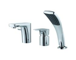 Смеситель для ванны на 3 отверстия D&K Berlin Freie DA1434901 (хром глянец, врезной на борт ванны)