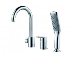 Смеситель для ванны на 3 отверстия D&K Rhein Marx DA1394901 (хром глянец, врезной на борт ванны)
