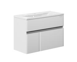Тумба Edelform Amata 100 99 см. 1-808-00-PR100 (белая, подвесная, одна дверь, два ящика)