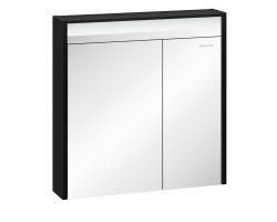 Зеркало-шкаф Edelform Carino 80 74 см. 2-751-43-S (чёрное-эбони)