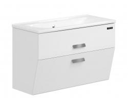 Тумба Edelform Forte 100 100 см. 1-725-00-PR100 (белая, подвесная, два ящика)