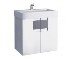 Тумба Edelform Glass 60 60 см. 2-691-00-S (белая, подвесная, две двери)