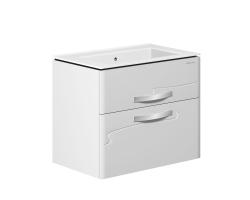 Тумба Edelform Nota 75 75 см. 35653 (белая, подвесная, два ящика)
