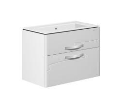 Тумба Edelform Nota 85 85 см. 35655 (белая, подвесная, два ящика)