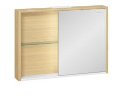 Зеркало-шкаф  Edelform Unica 100 94 см. 2-741-45-S (дуб гальяно-белый)