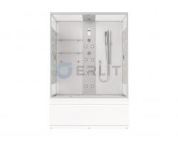 Душевой бокс Erlit SYD150-W2 148х82 (прозрачное стекло с рисунком, высокий поддон)