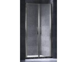 Дверь для душа Esbano ES-100-2LD 100 см. 100х195 (распашная, прозрачное стекло)