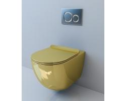 Унитаз подвесной Esbano Garcia (Gold) (безободковый, микролифт, золотой)