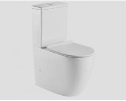 Унитаз напольный Esbano Ripoll (безободковый, горизонтальный, микролифт, белый)