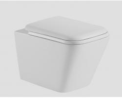 Унитаз подвесной Esbano Tiron (безободковый, микролифт, белый)