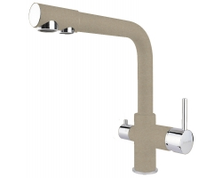 Смеситель для кухни Florentina FL-02 33.52L.2110.107 (песочный, с подключением к фильтру с питьевой водой)