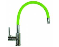 Смеситель для кухни Florentina Flex 33.65H.1120 (хром глянец-зелёный)