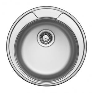Кухонная мойка Florentina Форум FO.490.В.10.P.08 (полированный хром)