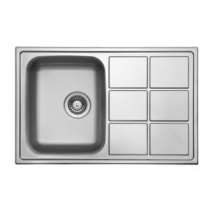 Кухонная мойка Florentina Профи PR.780.500.В.10.M.08 (матовый хром)