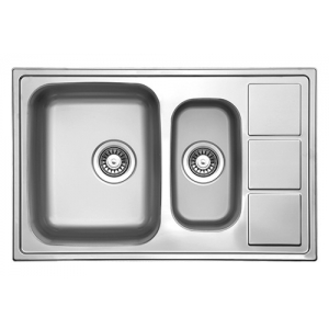 Кухонная мойка Florentina Профи PR.780.500.В.1K.M.08 (матовый хром)