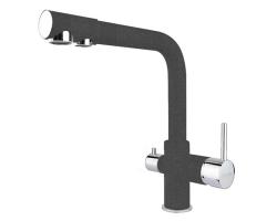 Смеситель для кухни Flortek FK-04 31FK.04H.2110.102 (чёрный, с подключением к фильтру с питьевой водой)