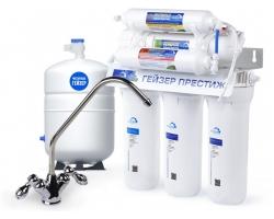 Фильтр для питьевой воды обратного осмоса Гейзер Престиж-М 20007 (с краном и гидробаком 12 л.)
