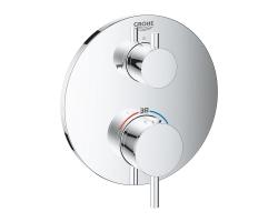 Смеситель для ванны термостатический Grohe Atrio 24138003 (хром глянец, внешняя часть, скрытого монтажа)