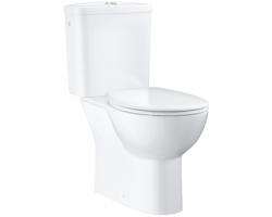 Унитаз напольный Grohe Bau Ceramic 39346000 (белый, вертикальный, безободковый, микролифт)