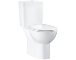 Унитаз напольный Grohe Bau Ceramic 39347000 (белый, горизонтальный, безободковый, микролифт)