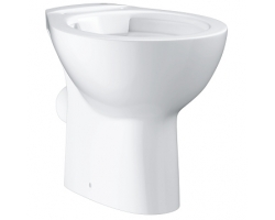 Чаша напольного приставного унитаза Grohe Bau Ceramic 39430000 (белый, горизонтальный, безободковый)