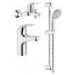 Комплект смесителей для ванной комнаты Grohe BauCurve 122251 (119760, 126741)
