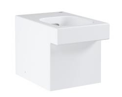 Чаша напольного приставного унитаза Grohe Cube Ceramic 3948500H (белый, безободковый)