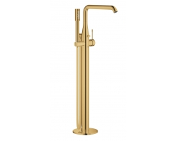 Смеситель для ванны Grohe Essence New 23491GL1 (золото глянец, внешняя часть, напольного монтажа)