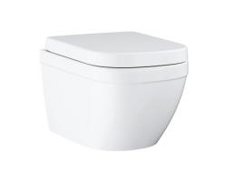 Унитаз подвесной Grohe Euro Ceramic 39554000 (белый, безободковый, дюропласт микролифт)